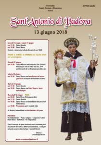 Programma festa di Sant'Antonio 2018